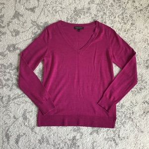 Banana Republic Sm 100% Merino Wool Bright V-Neck